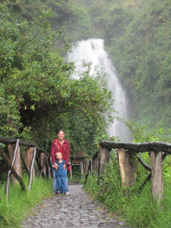 At the Cascadas de Peguche